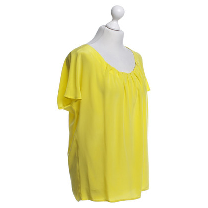 Steffen Schraut camicetta di seta in giallo