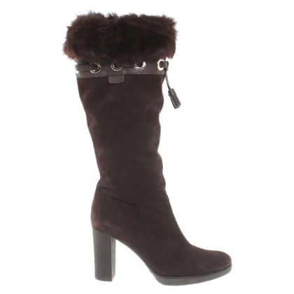 Gucci Stivali di camoscio pelliccia