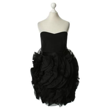 Marchesa Bustier dress in black