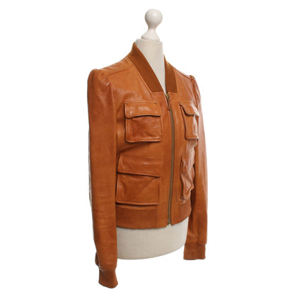 Gucci Leather jacket in cognac
