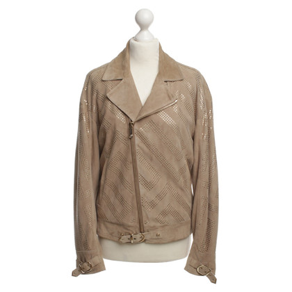 Versace Suede leather jacket