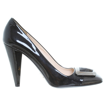 Prada Patent pumps in black
