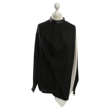 3.1 Phillip Lim Silk blouse with leather details