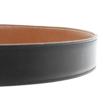 Hermès zwart/bruine omkeerbare riem