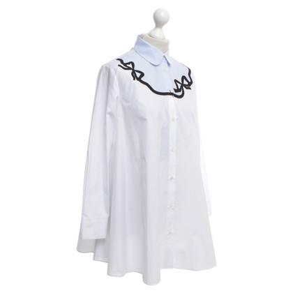 Max Mara camicetta bianca con ricami