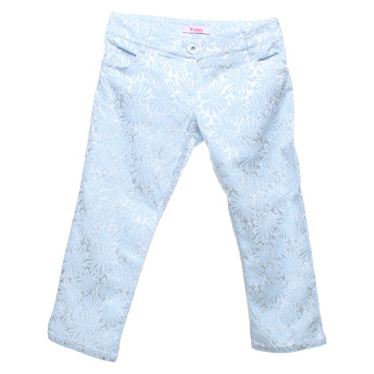 Blumarine 3 / 4-trousers in silver / light blue
