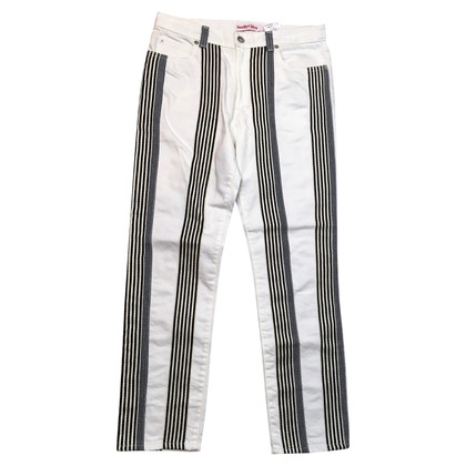 See by Chloé jeans bianchi con strisce