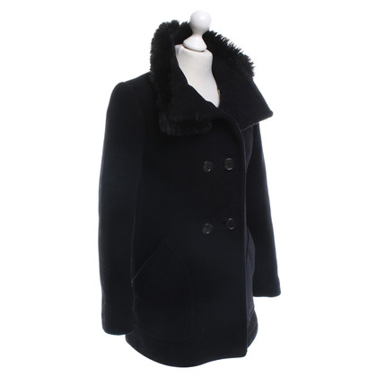 Prada Coat with woven fur collar