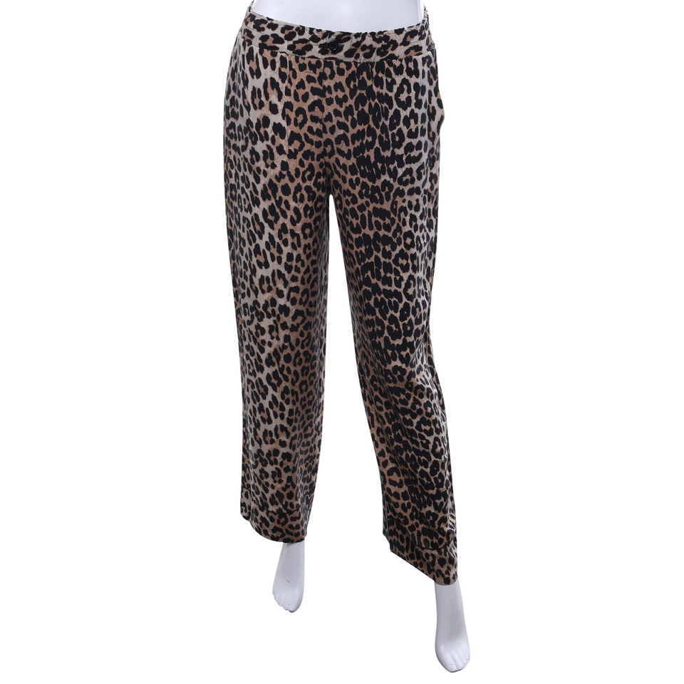 ganni pantalon en soie avec motif acheter ganni pantalon en soie avec motif second hand d. Black Bedroom Furniture Sets. Home Design Ideas