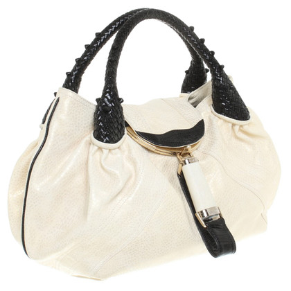 """Fendi """"Sp Bag"""" handbag in cream / black"""