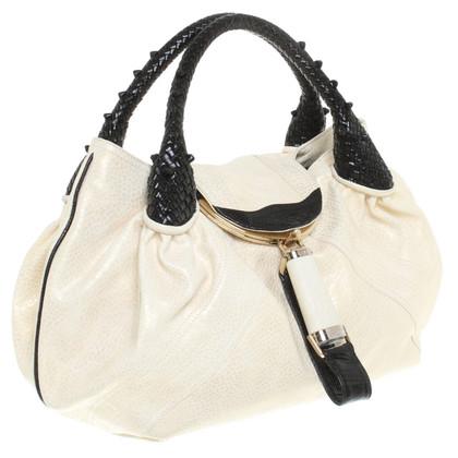 "Fendi ""Sp Bag"" handtas in crème / zwart"