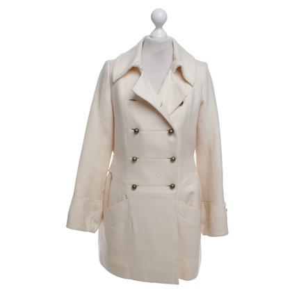Chloé Cappotto in crema bianca