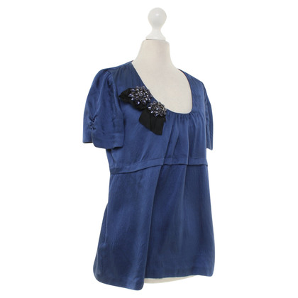 Vera Wang Lavender Label - Silk blouse in blue