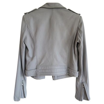 Iro Light Grey Leather Jacket