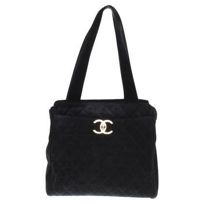Chanel Shopper aus Veloursleder