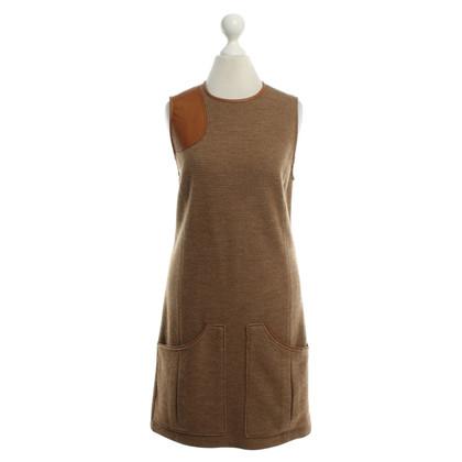 Ralph Lauren Robe en laine avec des détails en cuir