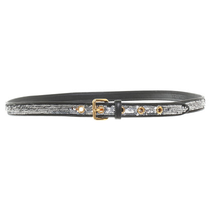 Miu Miu Narrow belt with sequins