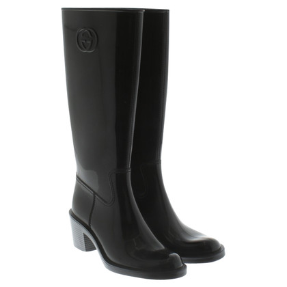Gucci Rubberen laarzen in zwart