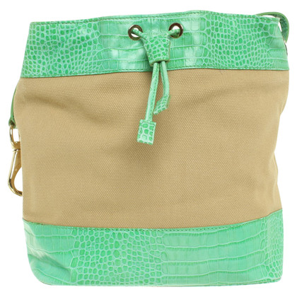 Etro Pouch bag in beige / green