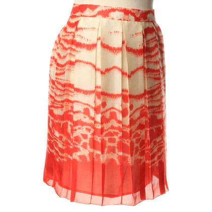 L.K. Bennett Red and cream skirt