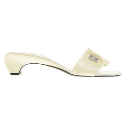 Sergio Rossi Crème-kleurige sandalen