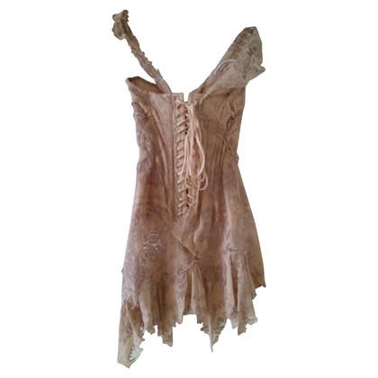 Roberto Cavalli Silk dress with embroidery