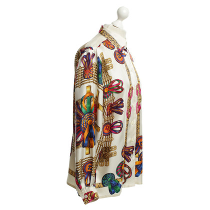 Hermès Silk blouse with colorful patterns