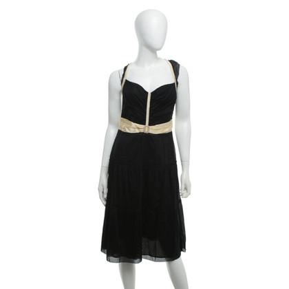 Burberry Kleid aus in Schwarz/Creme