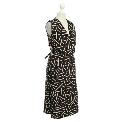 René Lezard Silk wrap dress
