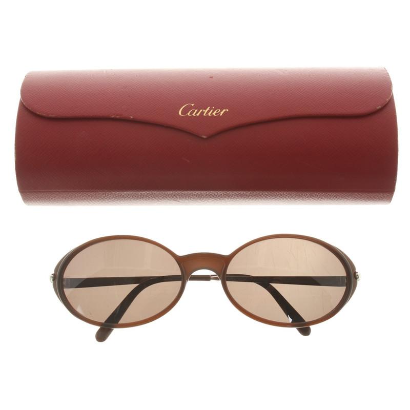 Lunettes de à Brown Cartier Lunettes soleil Acheter de Cartier POgxSdA 213286c98af9