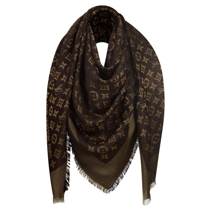Louis Vuitton Sjaal Monogram Brown Shine