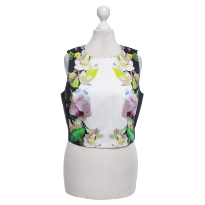 Ted Baker Kurzes Top in Blau/Multicolor