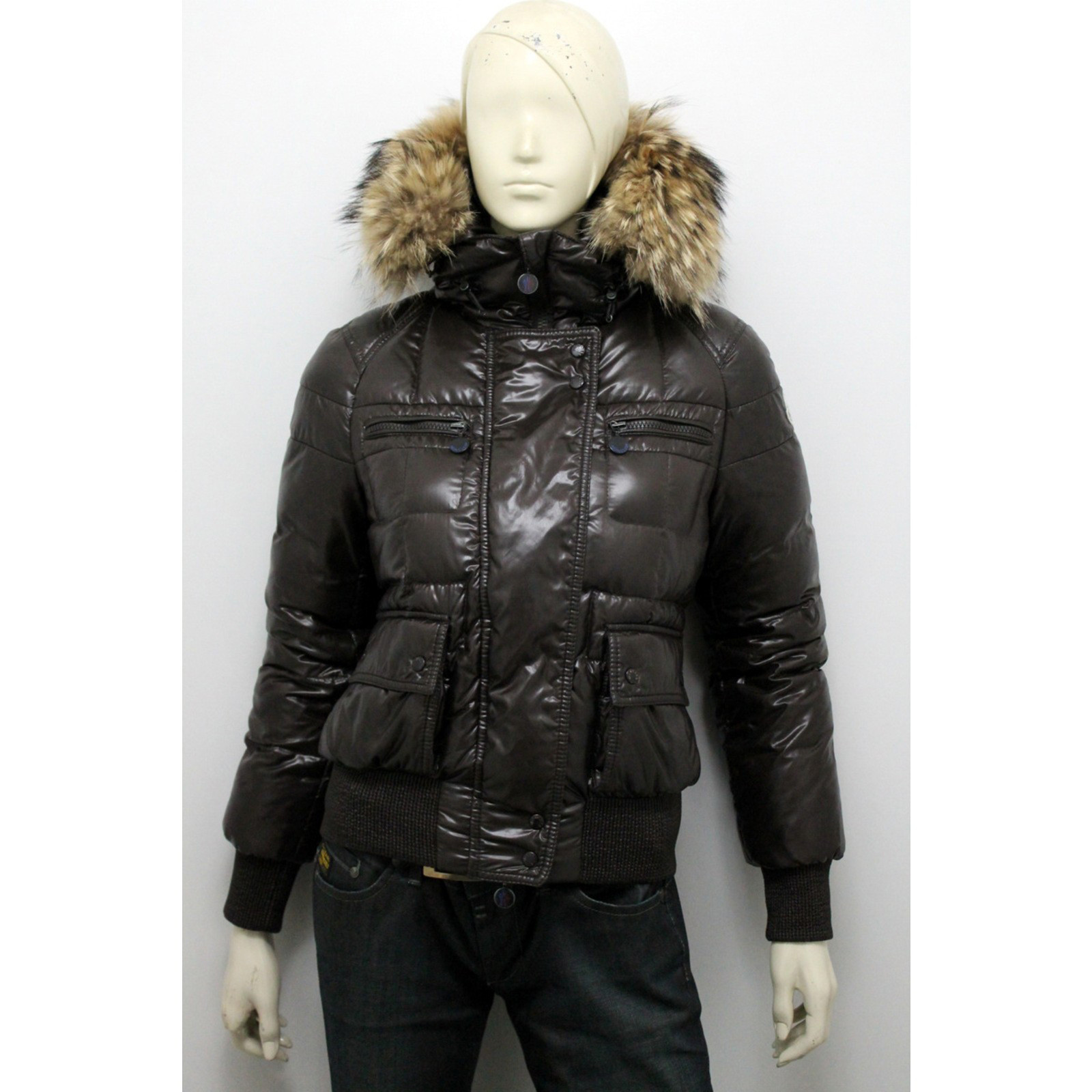Georgia down jacket Moncler Black size 38 FR in Other 1838938