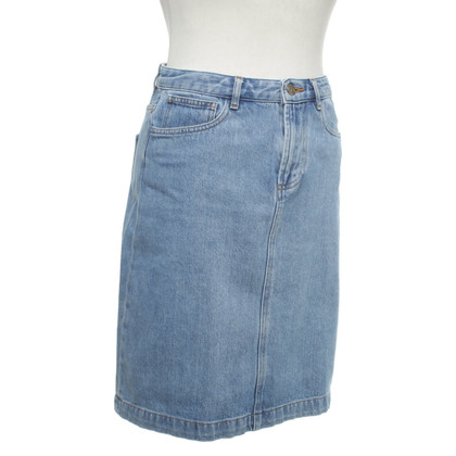 A.P.C. Cotton denim skirt