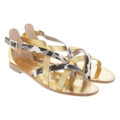 Diane von Furstenberg Sandals in goud