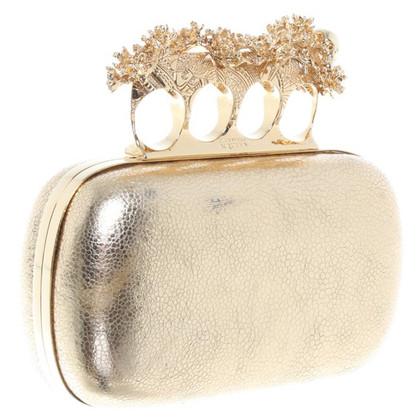 """Alexander McQueen clutch """"bloemen IRIS schedel"""""""