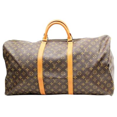 6b842fc2a897 Louis Vuitton Travel bag Canvas in Brown