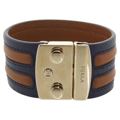 Furla Leather bracelet in brown / blue