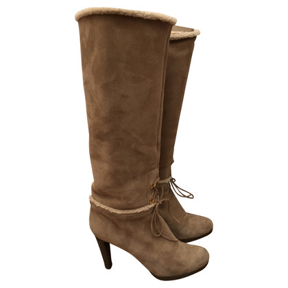Sergio Rossi Suede boots with lambskin