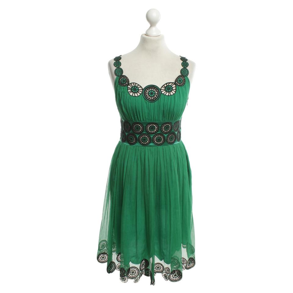 Catherine Malandrino Silk dress in green