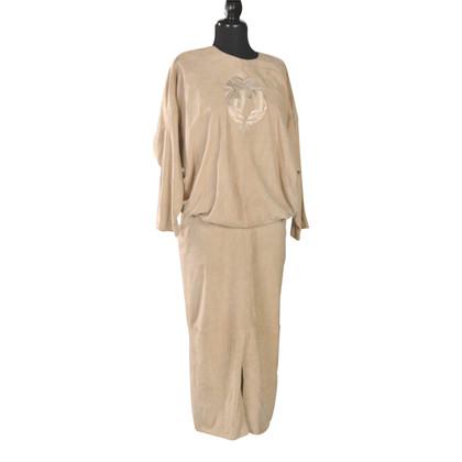 Ferre abito vintage camoscio cammello