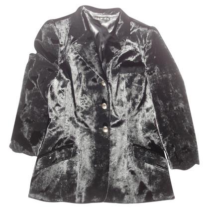 Etro Zwarte zijde overvloeien pak mod. P4076