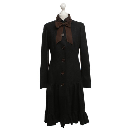 Rena Lange Wool coat in anthracite