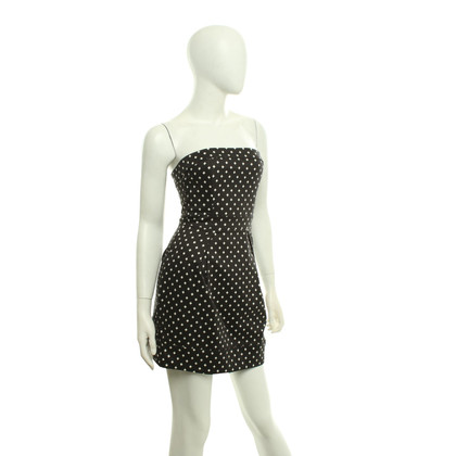 French Connection Waisted dress in black and white