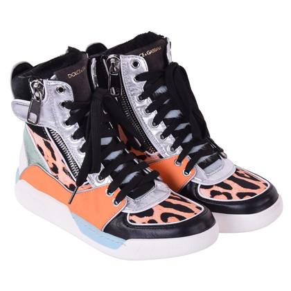 Dolce & Gabbana Orange high-top sneakers