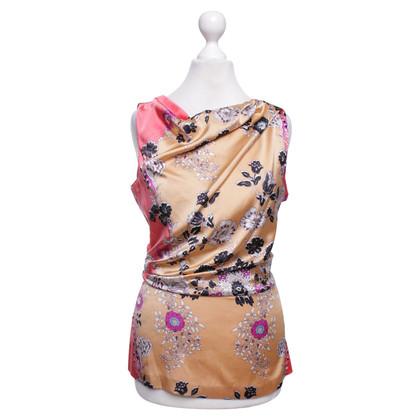 Etro Zijden blouse met bloemmotief