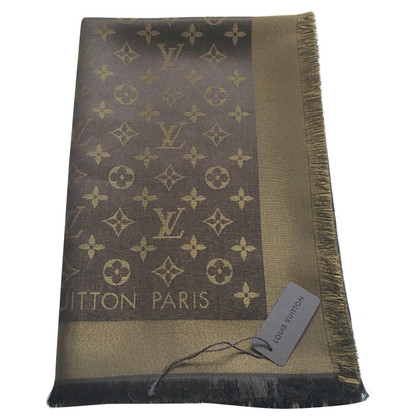 Louis Vuitton Shawl Monogram Brown Shine