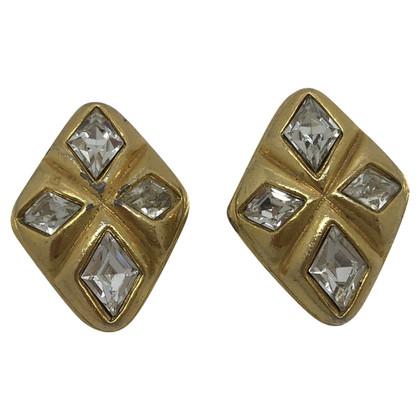 Chanel vintage earrings in golden metal