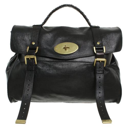 b56a6cae92e8 Mulberry Handbag Leather in Black - Second Hand Mulberry Handbag ...