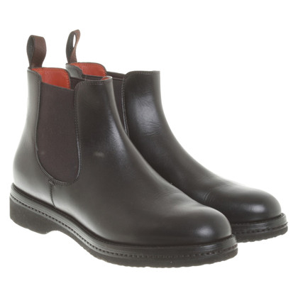 Santoni Chelsea boots in black